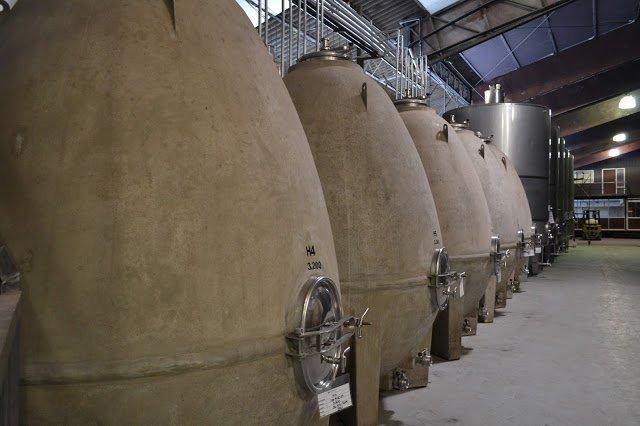 barricas de concreto   ruta del vino